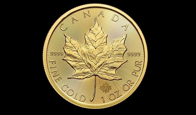 1 oz златен Канадски кленов лист