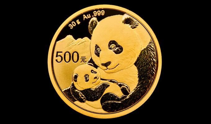 Златна монета Китайска панда 1 унция