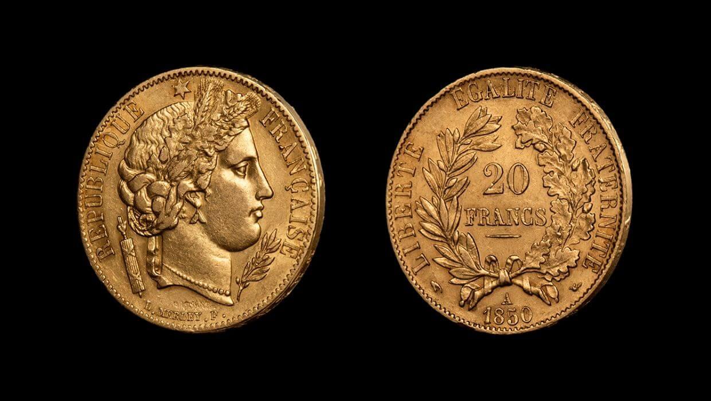 20 франка златен Серес - френска златна монета