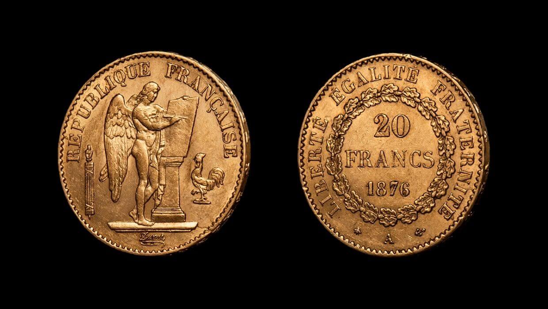 Златен Гениус - френска монета от 20 франка