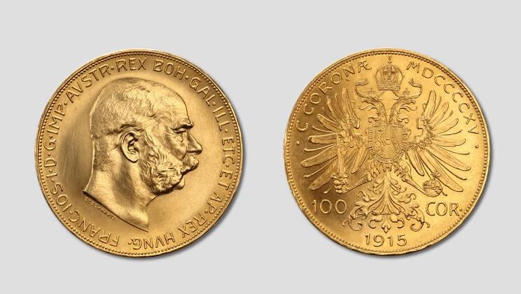 100 златни корони Австрия - Франц Йосиф