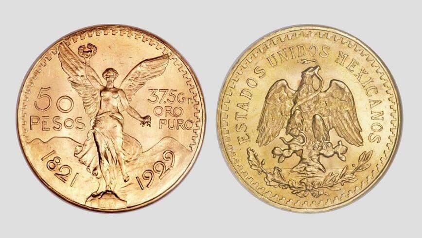 50 златни мексикански песо