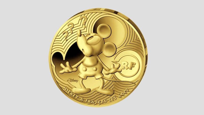 Златна монета Мики Маус