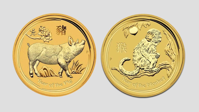 Златен лунар Година на прасето и Година на маймуната