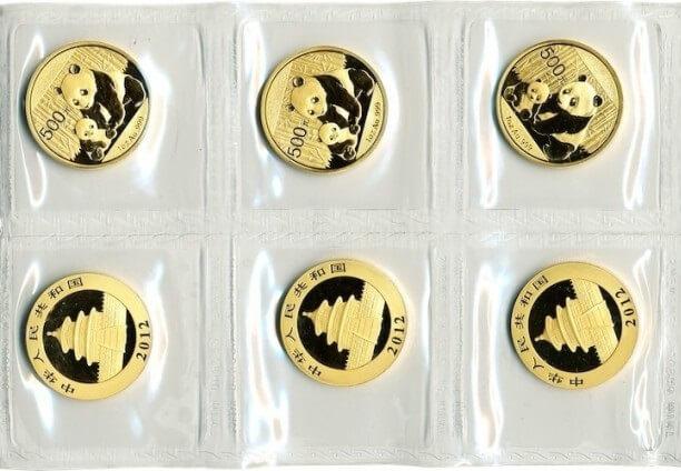 Силиконов лист с монети Златна китайска панда