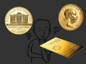 Сертификати при инвестиционните златни кюлчета и монети
